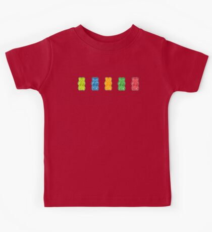 Rainbow Gummy Bears Kids Tee