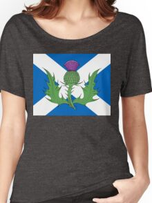 Scottish Thistle & Saltire Women's Relaxed Fit T-Shirt