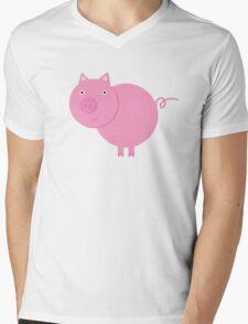 Mr. Piggy Mens V-Neck T-Shirt