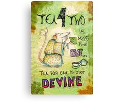 Stu the Sewer Rat and Tea for One  Canvas Print