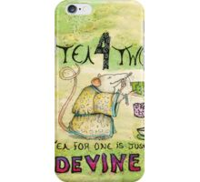 Stu the Sewer Rat and Tea for One  iPhone Case/Skin