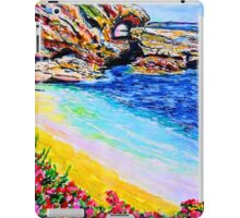 Treasure Island Keyhole Point laguna Beach Ca. iPad Case/Skin