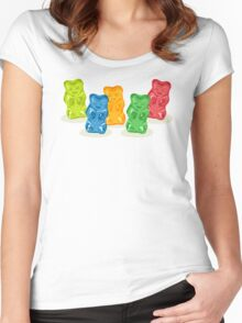 Gummy Bears Gang Women's Fitted Scoop T-Shirt