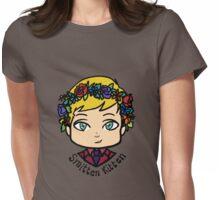 flower crown robert Womens Fitted T-Shirt