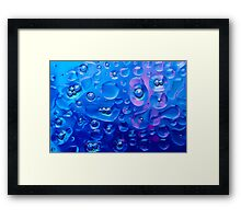 Funky Bubbles in blue for Textile Prints and Decorative Wall Art  Framed Print