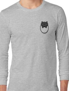 Neko Atsume Pocket Cat (Black) Long Sleeve T-Shirt