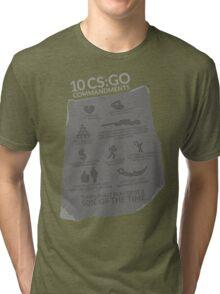 CS:GO Commandments Tri-blend T-Shirt