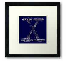 Wisdom of X-Files (Gray) Framed Print