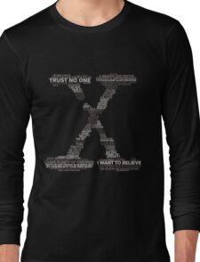 Wisdom of X-Files (Gray) Long Sleeve T-Shirt