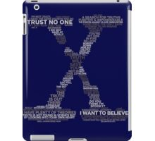 Wisdom of X-Files (Gray) iPad Case/Skin