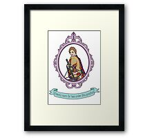 Daryl Dixon's Lonely Poncho Framed Print