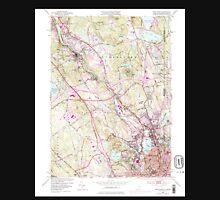 USGS TOPO Map Rhode Island RI Pawtucket 353336 1949 24000 Unisex T-Shirt