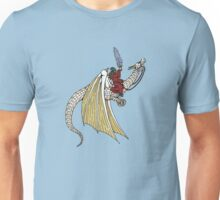 Wizard Riding White Dragon Unisex T-Shirt