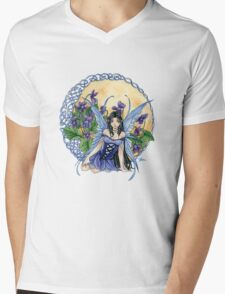 Celtic Violet Fairy t shirt Mens V-Neck T-Shirt
