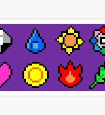 Kanto League Pokemon Master Badges  Sticker