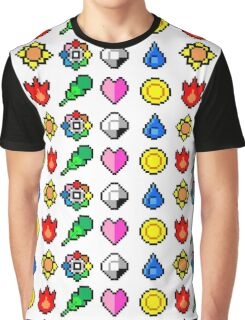 Kanto League Pokemon Master Badges  Graphic T-Shirt