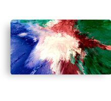 Abstract Acrylic Painting Impacto  Canvas Print