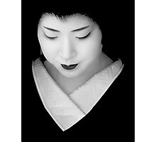 Geisha - grey scale Photographic Print