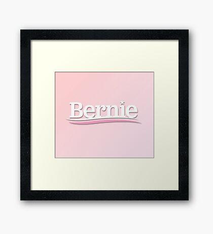 pink bernie Framed Print