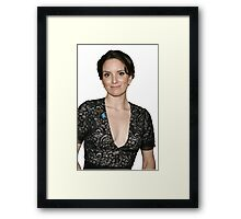 tina fey transparent. Framed Print