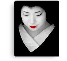 Geisha red lip Canvas Print