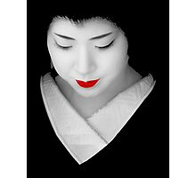 Geisha red lip Photographic Print