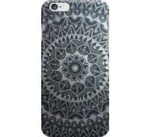 mandala black and silver iPhone Case/Skin