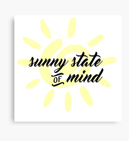 Sunny State of Mind Canvas Print