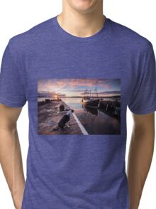 Sunset in Inverness, Scotland Tri-blend T-Shirt