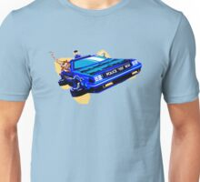 Back to the Future/ Doctor Who DeLorean Tardis Mashup Unisex T-Shirt