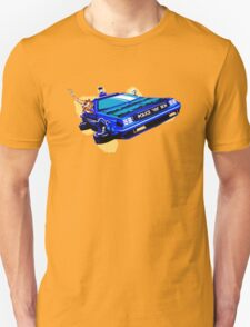 Back to the Future/ Doctor Who DeLorean Tardis Mashup T-Shirt