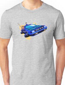 Back to the Future/ Doctor Who DeLorean Tardis Mashup Unisex T-Shirt