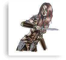 The Elder Scrolls- Skyrim- Aela The Huntress Metal Print