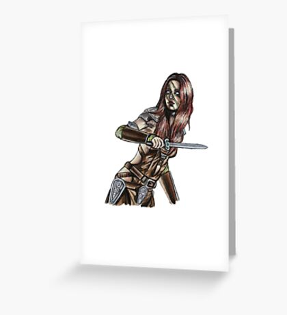 The Elder Scrolls- Skyrim- Aela The Huntress Greeting Card
