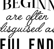 NEW BEGINNINGS quote Sticker
