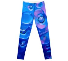 Funky Bubbles in blue for Textile Prints and Decorative Wall Art  Leggings