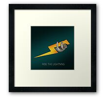 RIDE THE LIGHTNING Framed Print