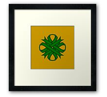 Emerald Green Clover Ribbon Framed Print