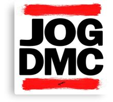 JOG DMC black Canvas Print