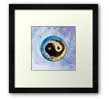 Yin Yang - Chinese Symbol in Ink and Pigments Framed Print