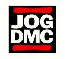 JOG DMC white Art Print