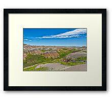 Colorful Badlands Framed Print