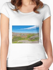 Colorful Badlands Women's Fitted Scoop T-Shirt