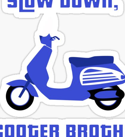 Scooter Brother Sticker
