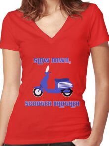 Scooter Brother Women's Fitted V-Neck T-Shirt