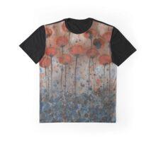 Bittersweet Me -- Orange Watercolor Flowers Graphic T-Shirt