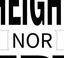 Height nor Depth Sticker