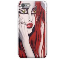 Eden- painting of a red haired girl iPhone Case/Skin