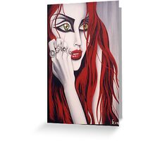 Eden- painting of a red haired girl Greeting Card