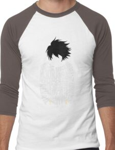 Death Note - L - Typography  Men's Baseball ¾ T-Shirt